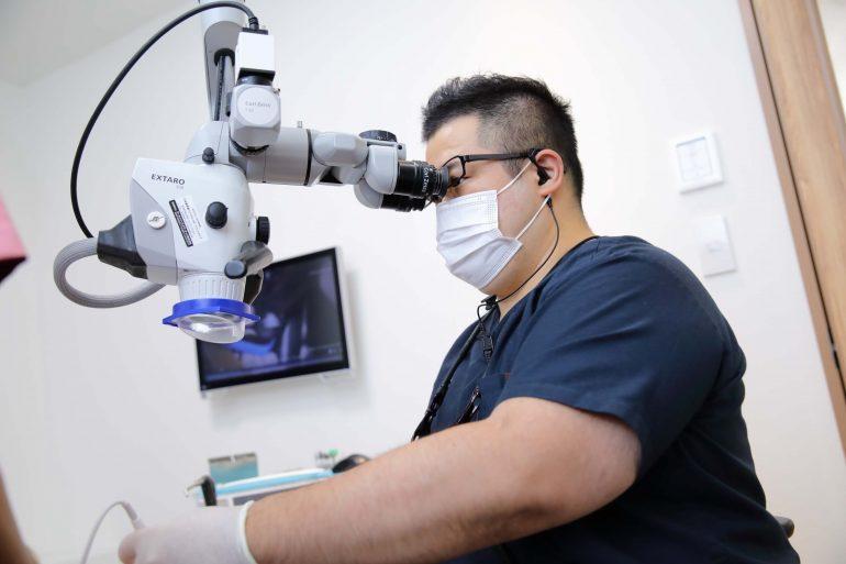 治療用入れ歯の作成+前処置